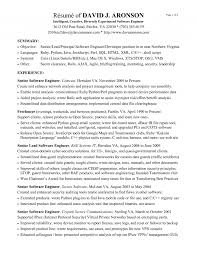 Resume Summary Examples For Software Developer by Good Software Developer Resume Resume For Your Job Application