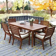 Redwood Patio Table Wood Small Patio Furniture Sets Eva Furniture