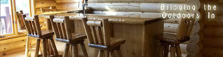 upholstered log bar stools rustic upholstered bar stools