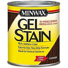 minwax 260914444 interior wood gel stain 1 2 pint coffee