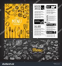 Home Menu Board Design Cafe Menu Restaurant Brochure Food Design Stock Vector 281547980