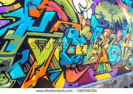 Urban Art Style - art under ground beautiful street art stock photo 490628953