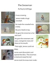 the snowman story u0026 sequencing activiy by louisecrane teaching