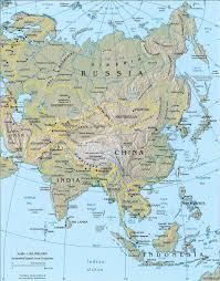 physical map of asia blank asia satellite map