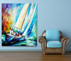100 hand painted color palette crazy yacht sailing race canvas