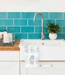 Blue Kitchen Backsplash by Interior Design By Falken Reynolds Vancouver Loft Kitchen And