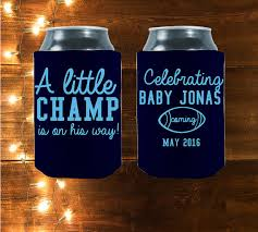 shower koozie customized baby shower koozies are the best party favors for your