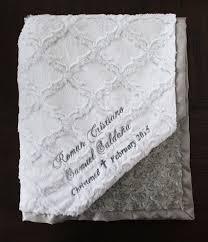 Baptism Blanket Personalized Minky Blanket Personalized Embroidered Blessing Blanket Baptism