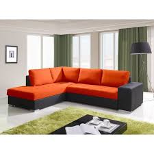 canapé d angle orange justhome porto canapé d angle couleur orange l32 h x l x l 88