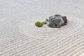 making a zen rock garden asphalt materials