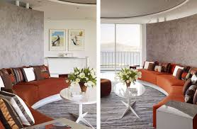 modern interior livingroom design with curved wall design and also