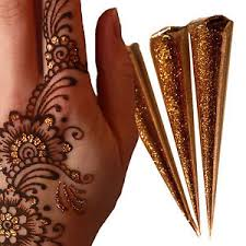 best quality gold glitter cone large 25g henna tattoo body art