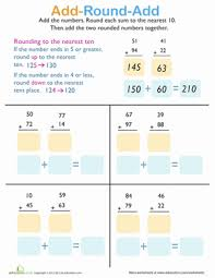 adding and rounding worksheet education com