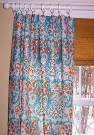 Blue And Orange Curtains Mandarin Hippie Curtains Premier Fabric Two Custom Drapery