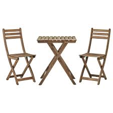 Folding Outdoor Table And Chairs Askholmen Table 2 Chairs Outdoor Ikea