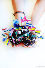 World Flag World Flag Cupcake Toppers Willowday