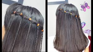 simple hairstyles with one elastic elastic waterfall braid quick and easy hairstyles braided
