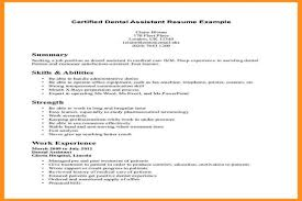 Dental Assistant Resumes Examples by Objective For A Job Resume Research Plan Example