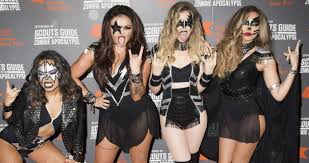little mix nail the kiss look for halloween ball from swindon