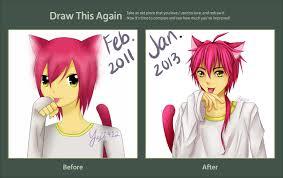 Meme And Neko - draw this again meme anime neko redo by yeji412 on deviantart