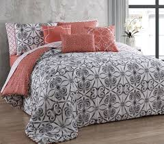 Twin Comforter Coral White And Gray College Comforter Extra Long Twin Bedding Set