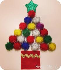 christmas crafting pom pom christmas tree christmas pinterest