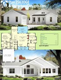 farmhouse plans with basement one story house plans with porch and bonus room best of brick