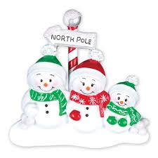 ornaments snowman family of 3 ornament
