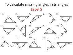 finding missing angle worksheet math pinterest worksheets