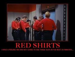 Red Shirt Star Trek Meme - ask yourself did you really want to very demotivational