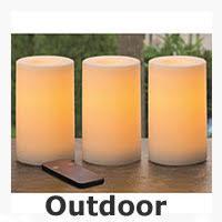 outdoor flameless candles will not melt