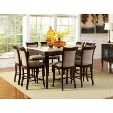Steve Silver Dining Room Furniture Steve Silver Company Marseille Marble Top Counter Height Dining