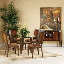 furniture fascinating dining room decoration with round glass