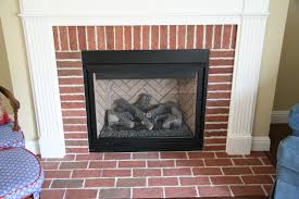 previous owner filled in fireplace shelves with incorrect brick