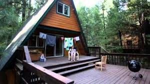 tiny a frame cabin in the woods youtube