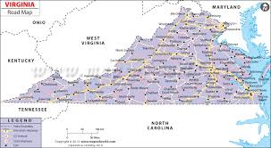 virginia map virginia road map road map of virginia