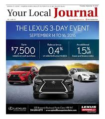 lexus service manager salary your local journal september 15 2016 by your local journal issuu