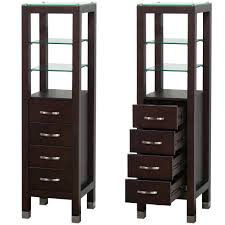 Bathroom Vanity With Linen Tower Espresso Linen Tower Wyndham Collection Newbathroomstyle