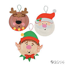 paper plate holiday characters craft kit 12 pk party supplies