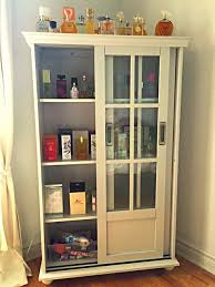 Bookcases With Sliding Glass Doors Mistress Of Scents Perfect Perfume Cabinet For The Perfume