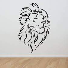 lion head wall sticker wall sticker lions and walls lion head wall sticker by oakdene designs notonthehighstreet com