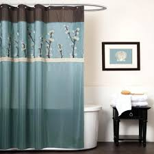 Teal Ruffle Shower Curtain by Shower Curtain With Snap Liner Fabric Shower Curtain Liner Royal