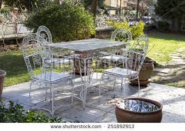 Metal Garden Chairs And Table Metal Garden Furniture Stock Images Royalty Free Images U0026 Vectors