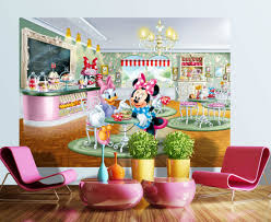 disney minnie mouse and daisy wall mural magical minnie mouse kids wall mural