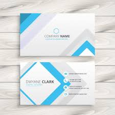 Minimal Design Business Cards Business Card With Minimal Design Vector Free Download