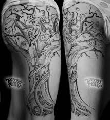 36 best tree thigh tattoos images on tree thigh