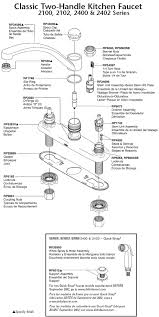 delta kitchen faucet parts diagram plumbingwarehouse com delta kitchen faucet parts for models 2100