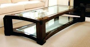 glass coffee table with wood base glass and wood coffee table large square glass coffee table uk wood