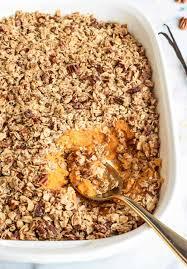 sweet potato casseroles recipes for thanksgiving healthy sweet potato casserole with pecan oat topping
