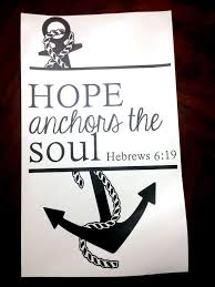 Quot Love Anchors The Soul - anchor wall vinyl decal with hope anchors the soul hebrews 6 19